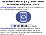 Buy Unlock iPhones Online on Refurbiphones.com.au