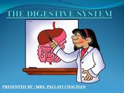 The Digestive System and disorders