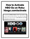 HBO Go Com Activate on Roku - Roku Com Link Help