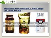 Setting the Priorities Right – Just Change the Foods You Eat