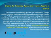 Online Air Ticketing Agent and Travel Agents in Mohali