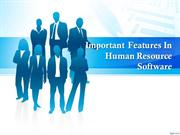 Important Features In Human Resource Software