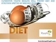 Ulcerative colitis healing well poetry DIET AND INTENTIONS written by