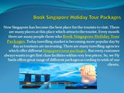 Book Singapore Holiday Tour Packages