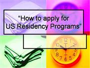 US residency applicaiton