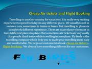 Cheap Air tickets and Flight Booking