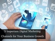 Top 5 Important Digital Marketing Channels for Your Business Growth