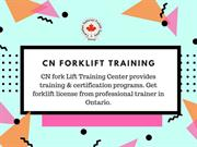 Forklift Training Institute in Brampton,Mississauga and Toronto