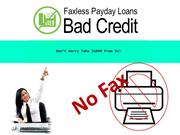 Faxless Payday Loans Bad Credit- Drive Finance Timely