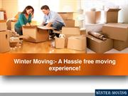 Winter Moving:- A Hassle free moving experience!