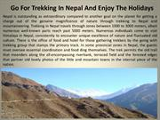 Go For Trekking In Nepal And Enjoy The Holidays