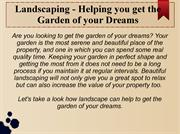 Landscaping - Helping you get the garden of your dreams