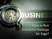 How to Run Scheduled Backups for Sage