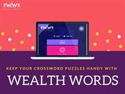 KEEP YOUR CROSSWORD PUZZLES HANDY WITH WEALTHWORDS