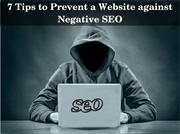 How to Prevent a Website Against Negative SEO?