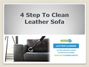 4 Step To Clean Leather Sofa