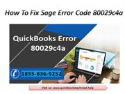 Fix QuickBooks Error Code 80029c4a