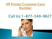 Printer 1-877-540-9627HP Printer Customer Care Number
