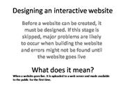 1-Designing an interactive website
