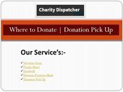 Where to Donate Donation Pick Up