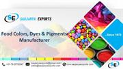 Food Colors Dyes And Pigments Manufacturer - Saujanya Exports