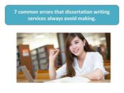7 common errors that dissertation writing services always avoid making