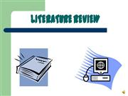 Literature Review Presentation 2008 anno