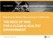 Electronic Waste Recycling in California - Arion Global Inc.