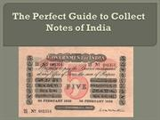 The perfect guide to collect Notes of India