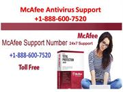 McAfee Support Number +1-888-600-7520 McAfee Customer Support