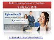 Aol tech support number 1-888-524-8675