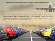 Miami Airport Long Term Parking
