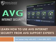 Learn How To Use AVG Internet Security From AVG Support Experts