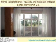 Prime Integral Blinds - Quality and Premium Integral Blinds Provider