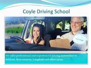 Driving instructors Roscommon - Coyle Driving School