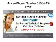Mcafee  Toll Free  Phone  Number 1800-445-2790