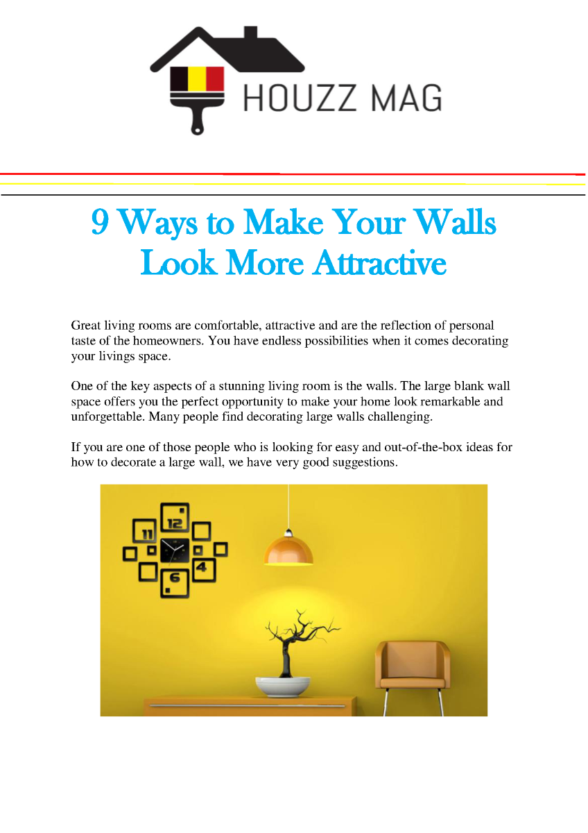 9 Ways to Make Your Walls Look More Attractive |authorSTREAM