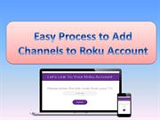 Adding Channels to Roku Account