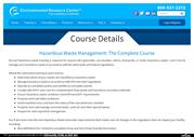 Hazardous Waste Management Hazardous Waste Management Course ERCWeb