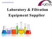 Laboratory and Filtration Equipments Supplier in India!