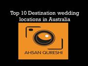 Top 10 Destination wedding locations in Australia