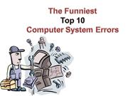 Top 10 Funniest Computer Errors