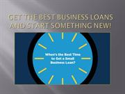 Get The Best Business Loans And Start Something New