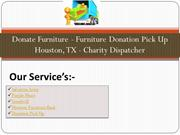 Donate Furniture - Furniture Donation Pick Up Houston, TX - Charity Di