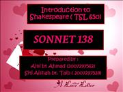 shakespeare - sonnet 138