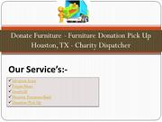 Donate Furniture - Furniture Donation Pick Up Houston-- TX Charity Dis