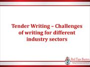 Tender Writing – challenges of writing for different industry sectors