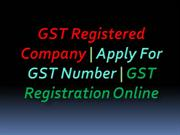 GST Registered Company | Apply For GST Number