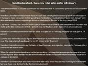 Hamilton Crawford - Euro zone retail sales suffer in February