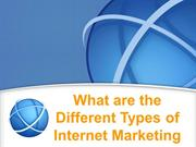 What are the Different Types of Internet Marketing